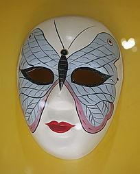 蓝蝴蝶图案面具