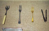 清代银镀金西餐具
