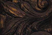 深铜色花纹背景