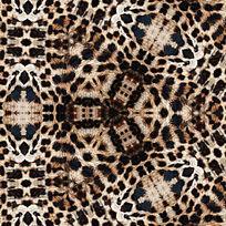 豹纹面料印花