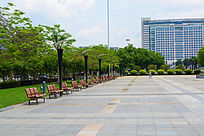 广场的风景