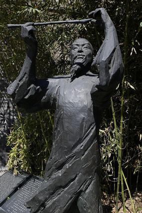 禁烟文人铜雕像