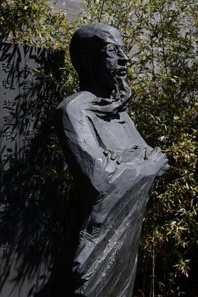 清末禁烟文人铜雕