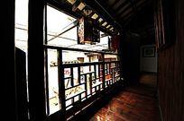 上海三林古镇建筑木栏杆