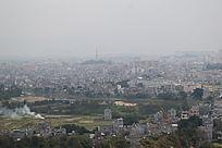县城鸟瞰摄影
