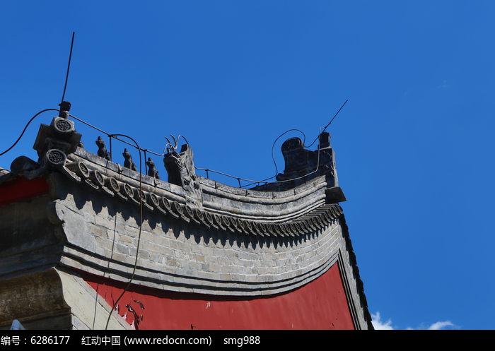 中式传统屋檐兽雕图片,高清大图_名胜古迹素材图片