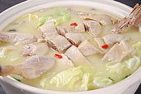 白菜咸鸭煲