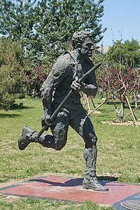 捕猎人雕像