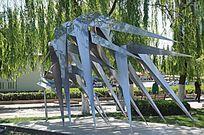 不锈钢燕子雕塑