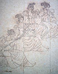 古代吹弹演奏壁画