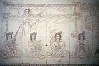 古代乐器演奏壁画