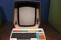 老式电子扫描显微镜显示屏