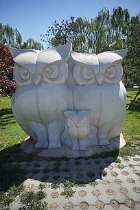猫头鹰石雕