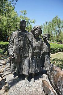民族兄弟雕塑