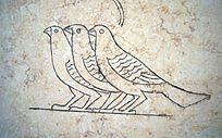 三只鸟壁画