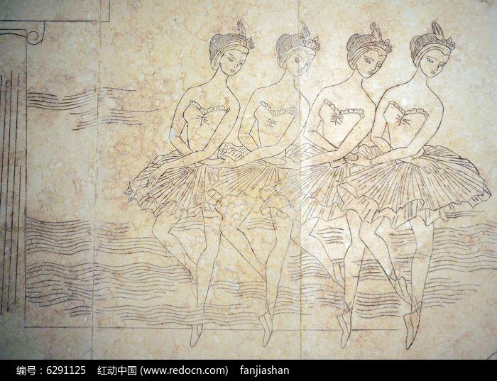 跳芭蕾舞的壁画图片