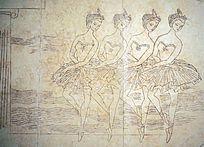 跳芭蕾舞的壁画