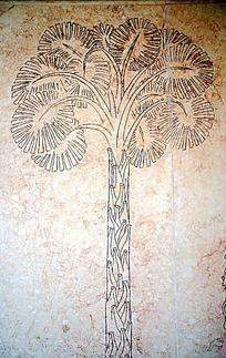 一棵树壁画