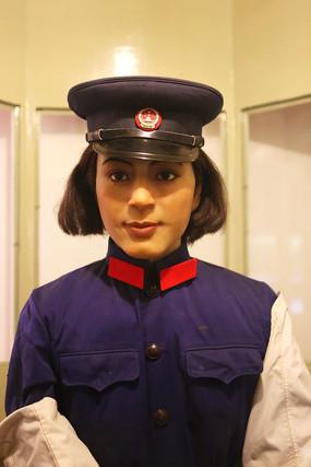 六七十年代女警察蜡像