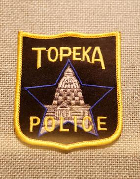 美国警察臂章方形五星建筑图案