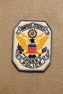 美国警察臂章方形鹰展图案