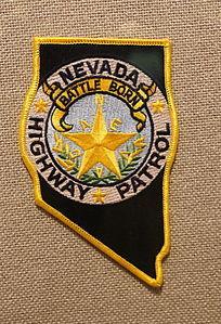 美国警察臂章三角形文字图案