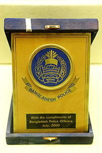 孟加拉国警务标志纪念牌