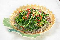 菠菜炒粉条