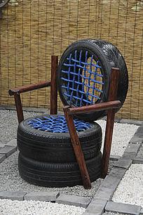 废旧轮胎椅子