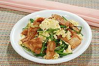 韭菜鸡蛋炒烧饼