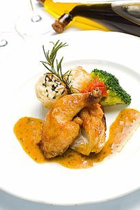 西餐美食料理鸡腿肉