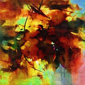 高清抽象油画图片KTV装饰画壁画背景墙