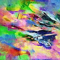 高清抽象油画图片电视背景墙