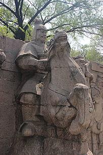 古代骑马将军浮雕