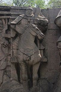 古代骑士浮雕