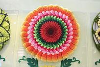 精美的圆形编织图案