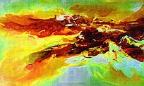 酒店装饰抽象油画背景墙壁画
