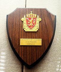 挪威警务标志纪念牌