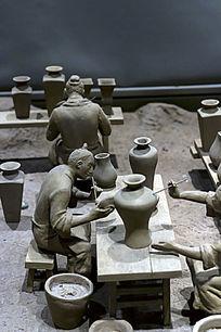 制作瓷器人俑