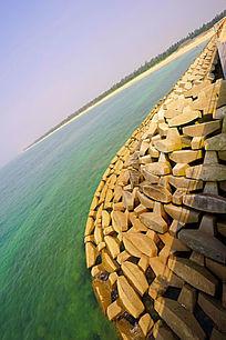 海边岩石风景