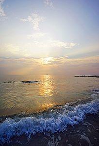 海水冲浪风景
