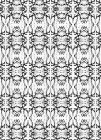 黑白抽象数码印花