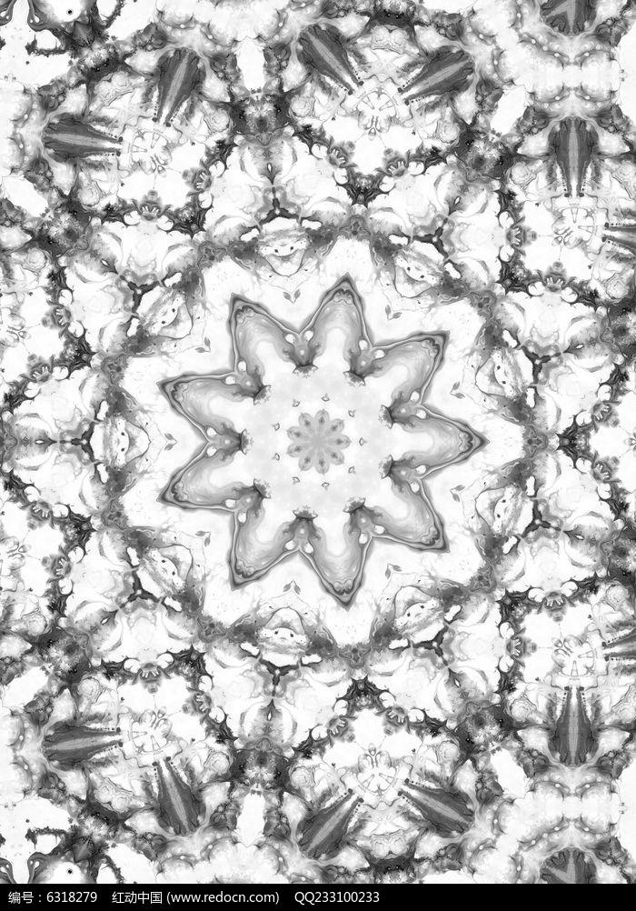 黑白数码印花面料数码印花图片