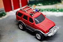 红色消防汽车模型