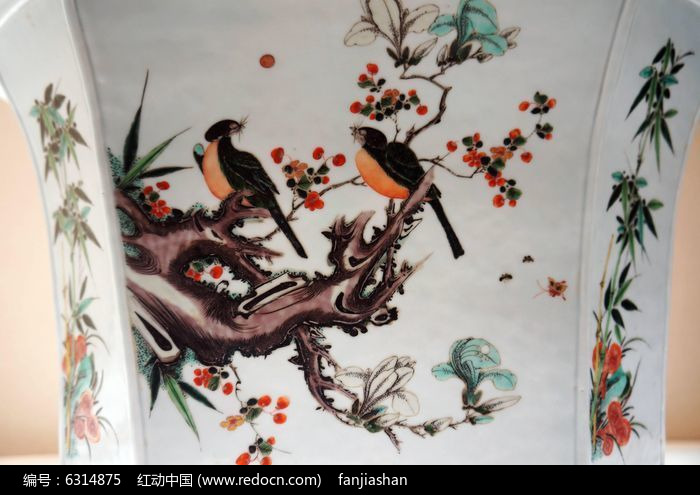 双鸟栖枝图