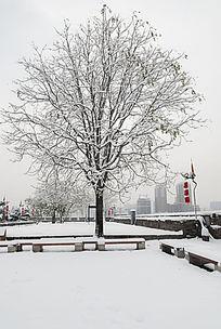 西安城墙雪景