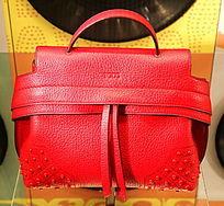 红色女士手提包
