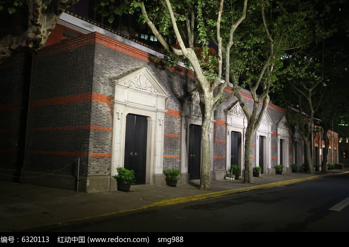 上海中共一大会址夜景图片
