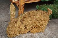手工编织兔子