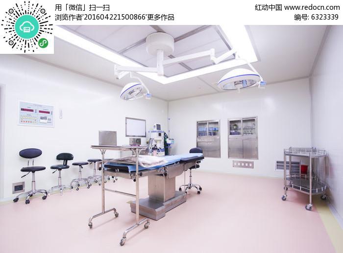 医院层流手术室摄影图片